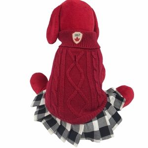 Canadian Puppy Dog Costume Outfit Sweater Dress